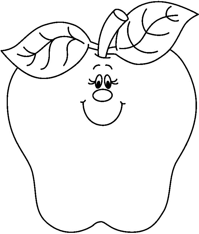 Apple  black and white black and white apple clip art 5