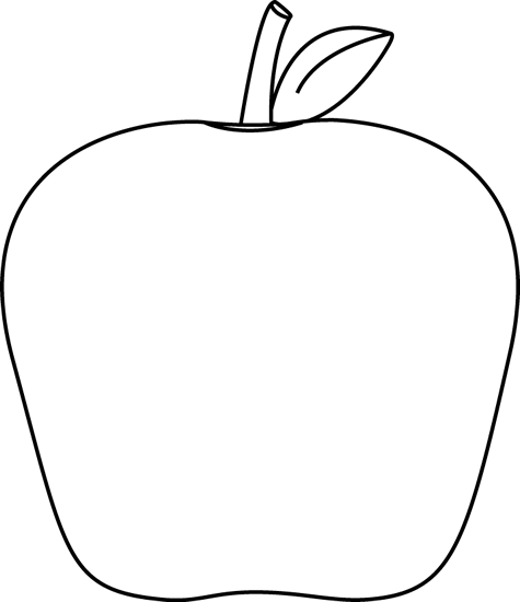 Apple  black and white black and white apple clip art image