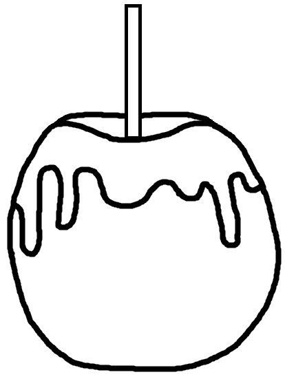 Apple  black and white candy apple clipart
