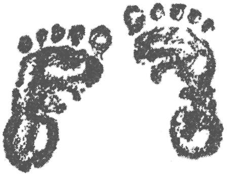 Baby feet clip art 1