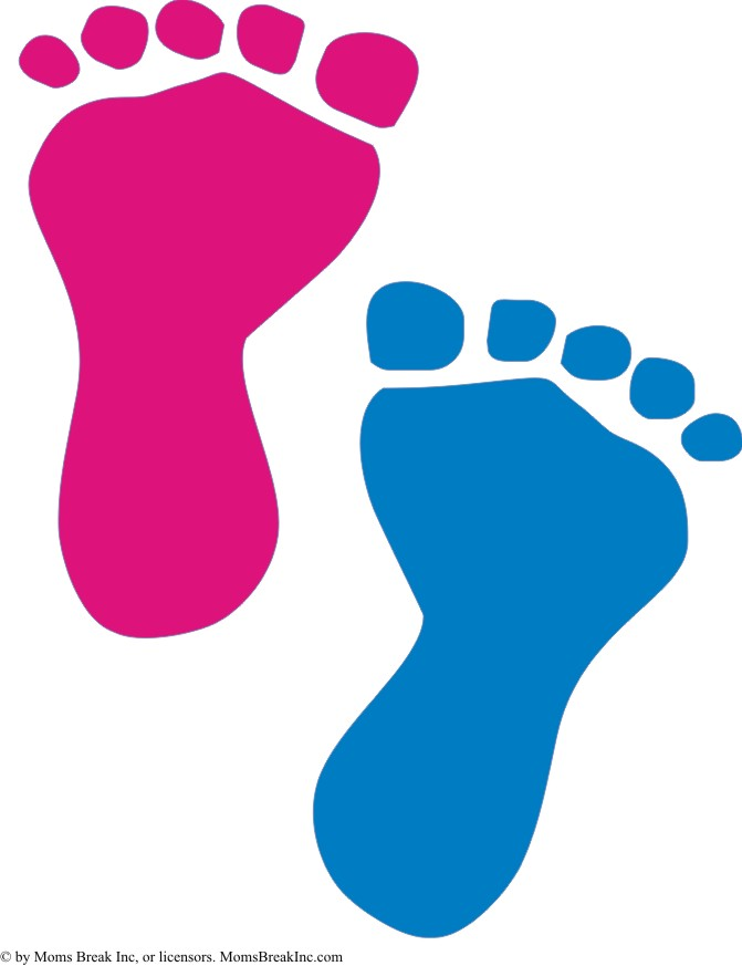 Baby feet clipart baby footprints blue - WikiClipArt