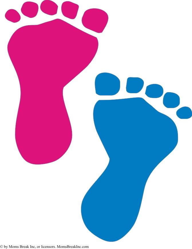 Baby feet feet clipart 2