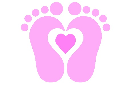 Baby girl baby feet pictures clip art vector