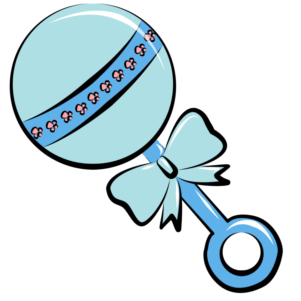 Baby rattle clipart 3