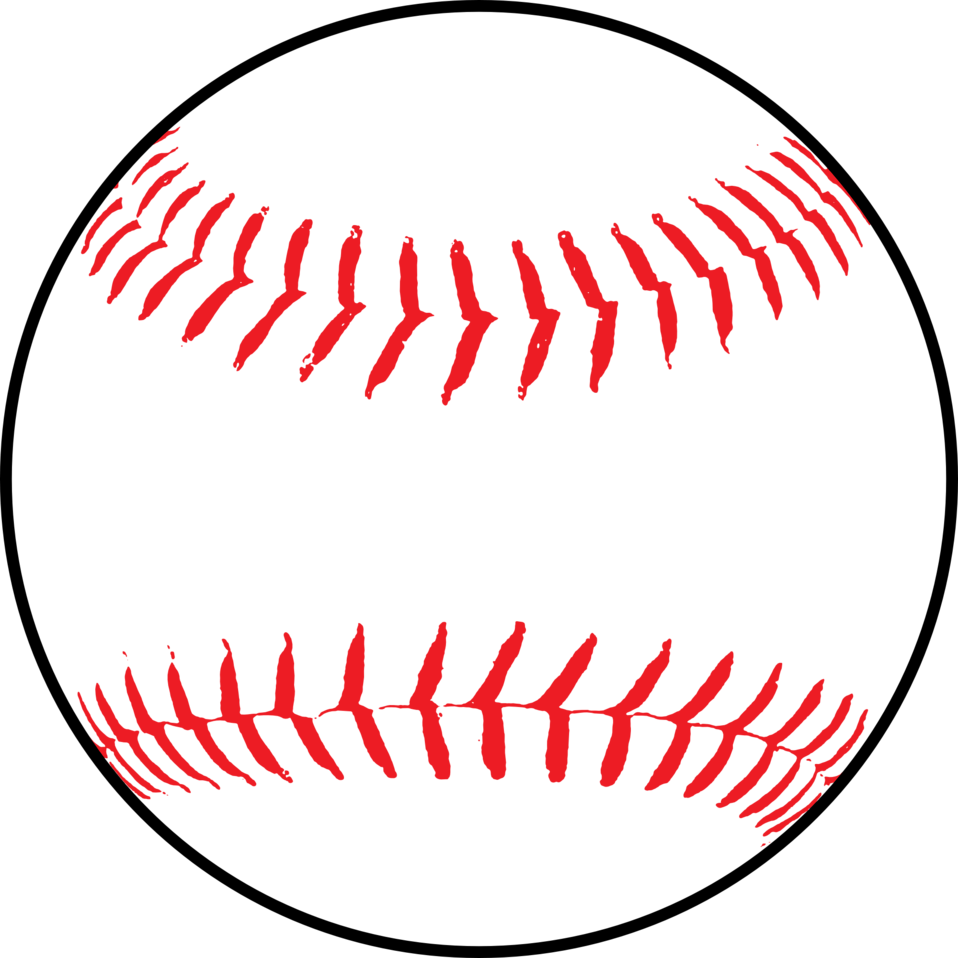 Baseball clipart black and white free images 2
