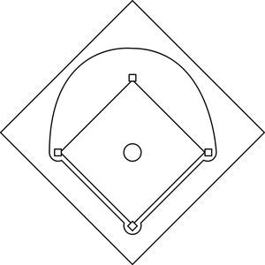 Baseball diamond baseball field clip art 4 3