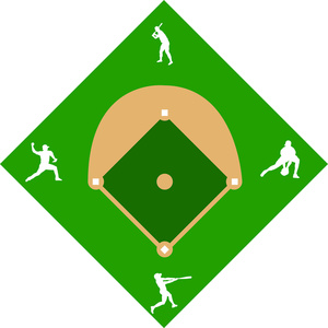 Baseball diamond clipart image or field with
