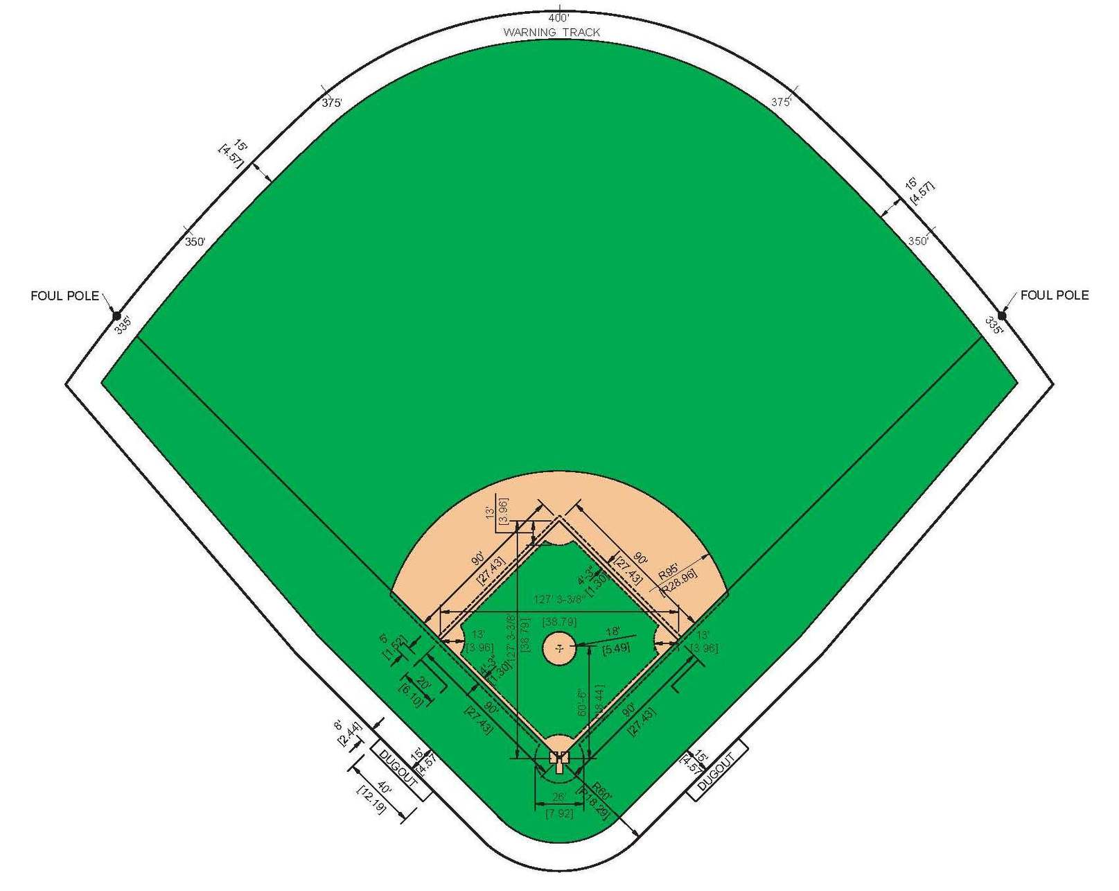 Baseball diamond template clipart free to use clip art resource