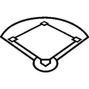Baseball field baseball park clipart 2