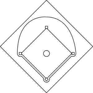 Baseball field clip art 4 6