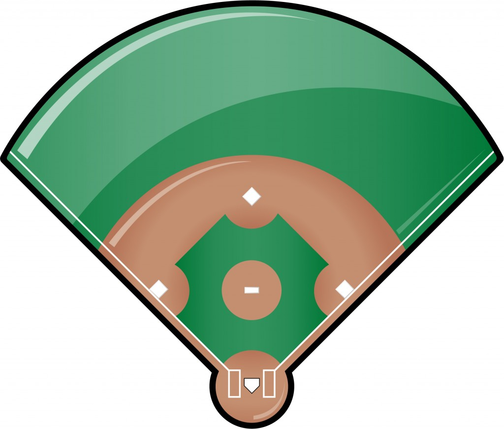 Baseball field clip art 4