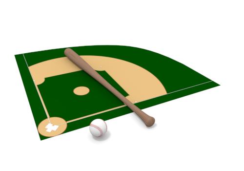 Baseball field clip art 5