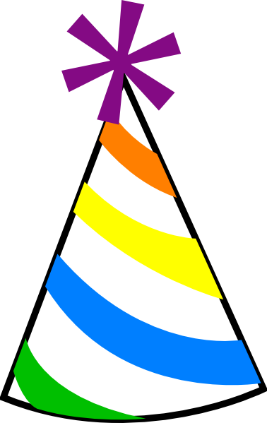 Birthday hat clipart 2