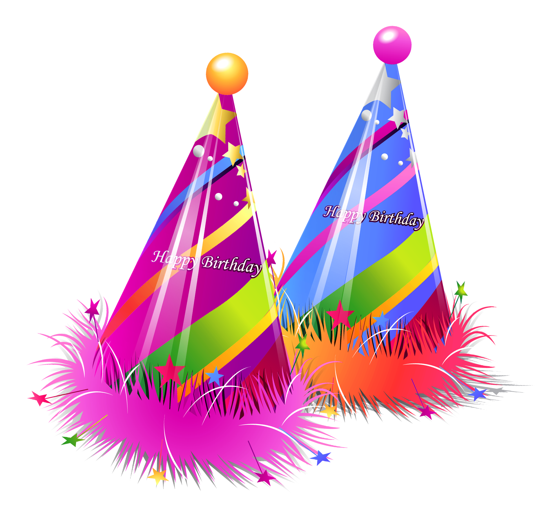 Birthday hat happy birthday party hats transparent clipart