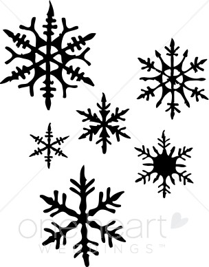 Black snowflake clipart 2