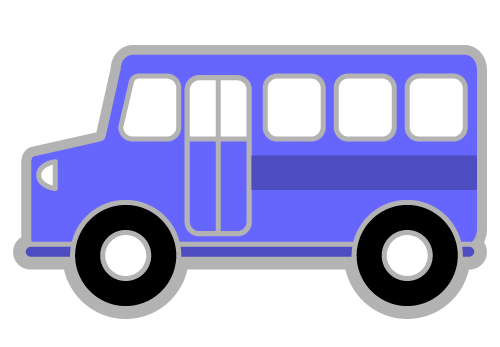 Blue bus clipart free images