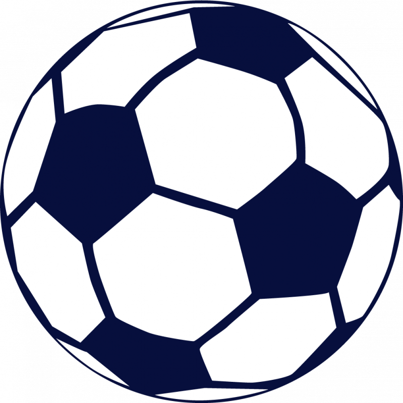 Blue soccer ball clipart free images 2