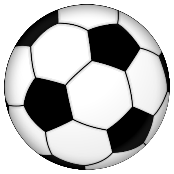 Blue soccer ball clipart free images