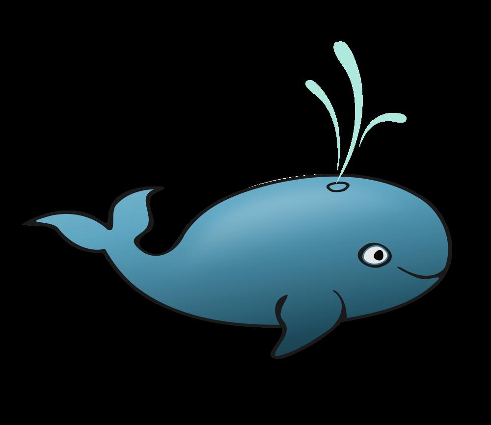 Blue whale rooweb clipart