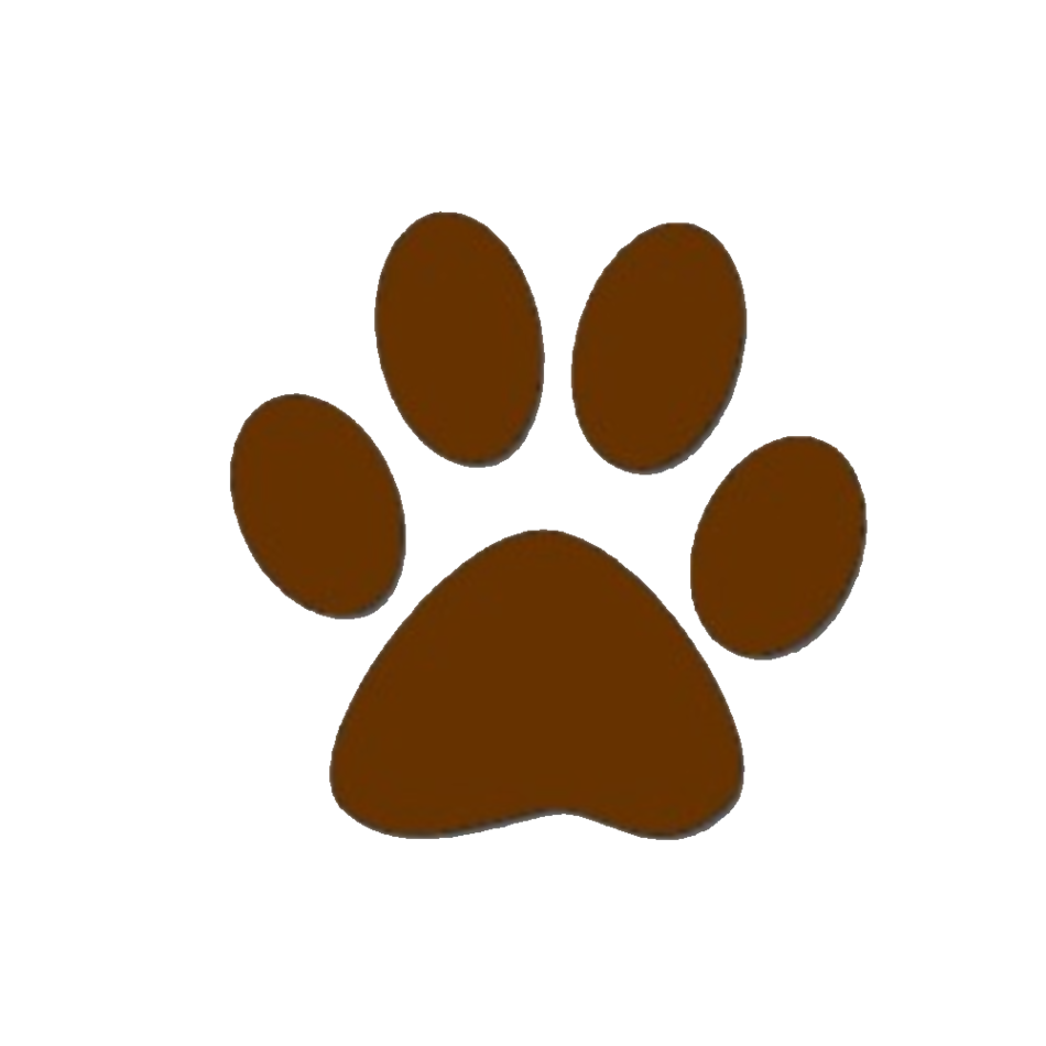 Brown dog paw print clipart free to use clip art resource