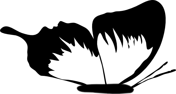 Butterfly  black and white butterflies clip art black and white clipart