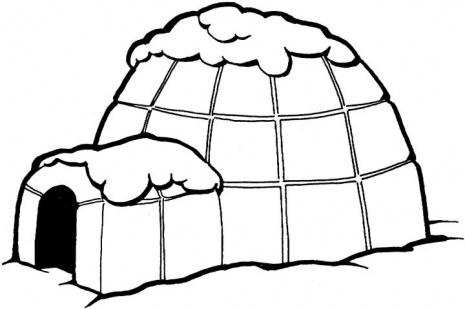 Cartoon igloo clipart 2