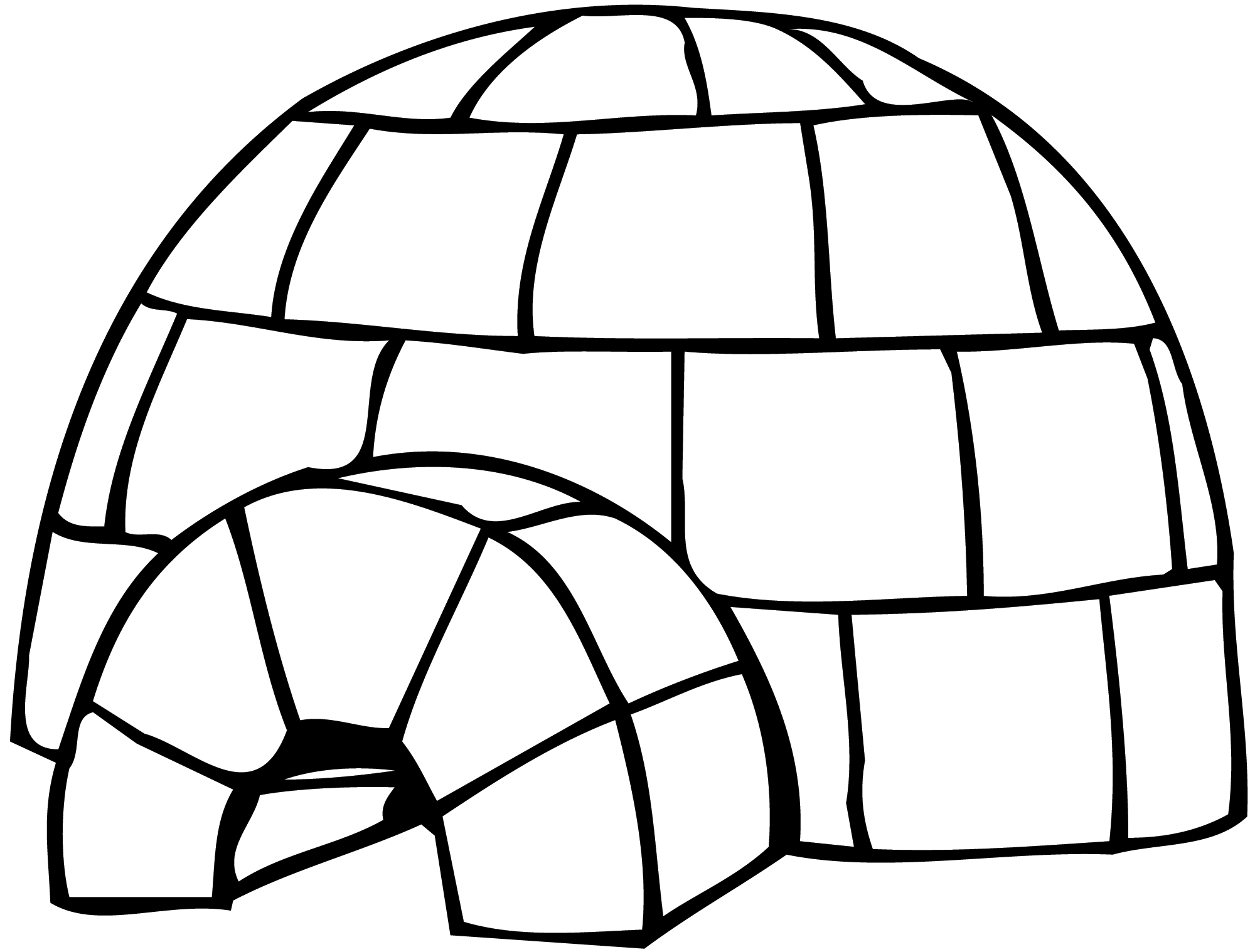 Cartoon igloo clipart