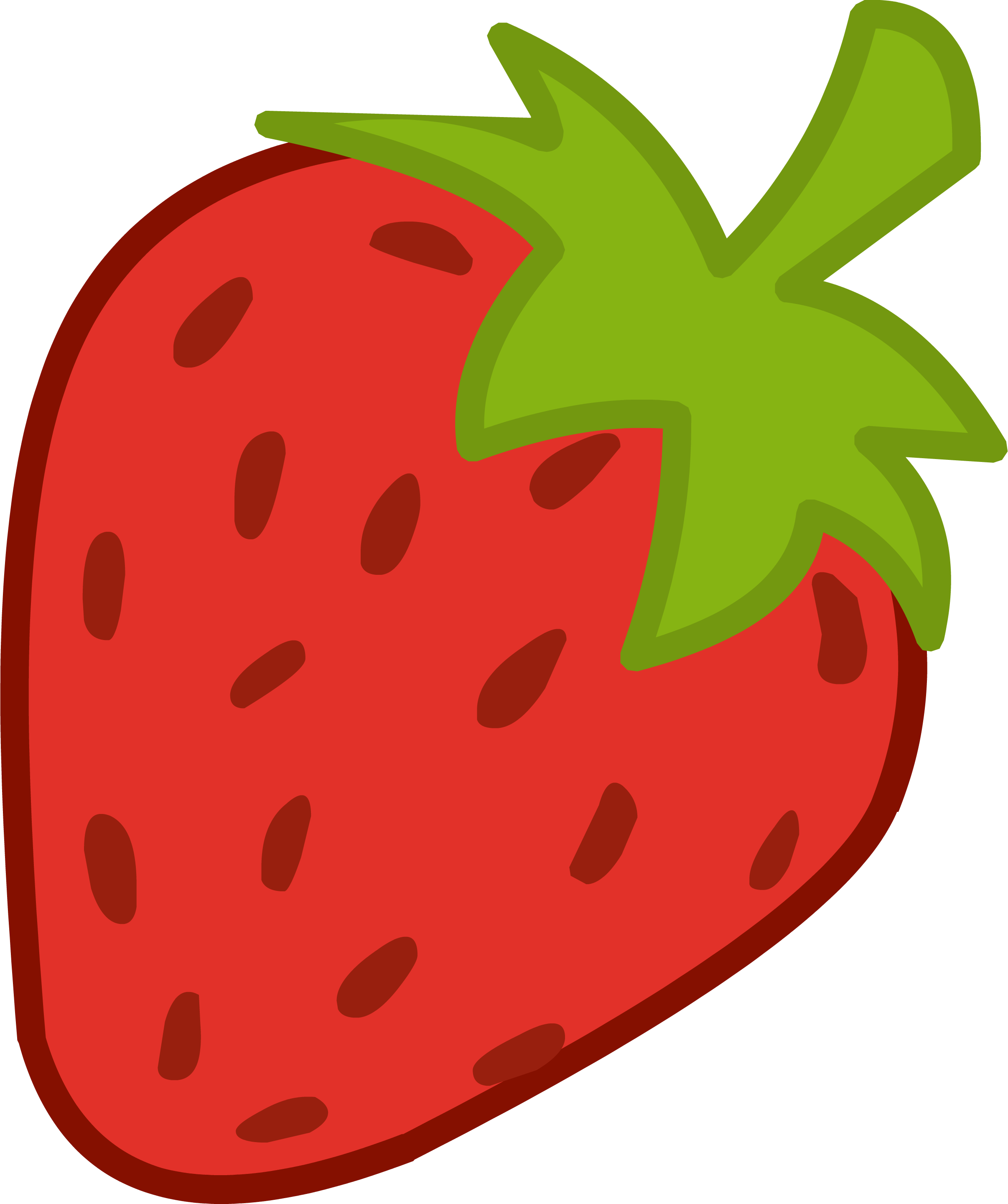 Cartoon strawberry clipart