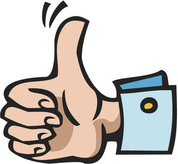 Cartoon thumbs up clipart 2