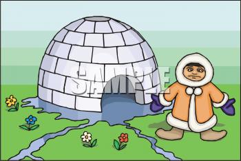 Clip art eskimo igloo