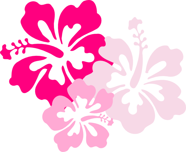 Clip art flower bright hawaiian clipart 3