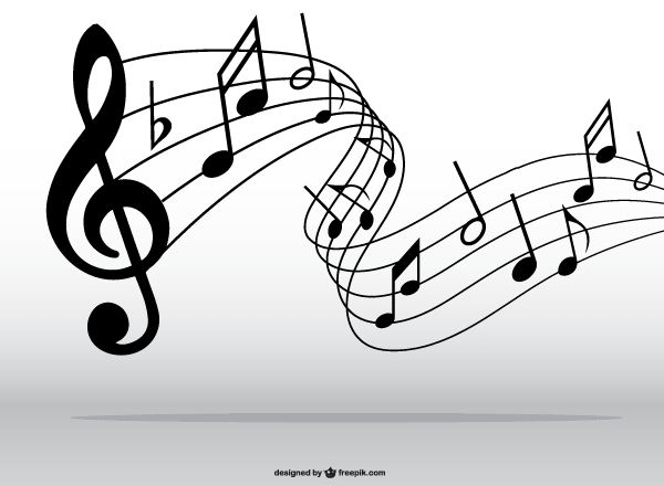 Clip art music notes pattern clipart