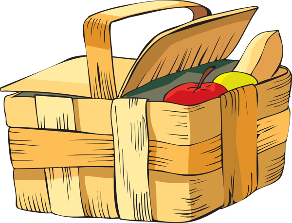 Clip art picnic basket food clipart