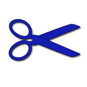 Clip art scissors dotted line clipart