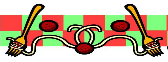Clip art spaghetti border clipart
