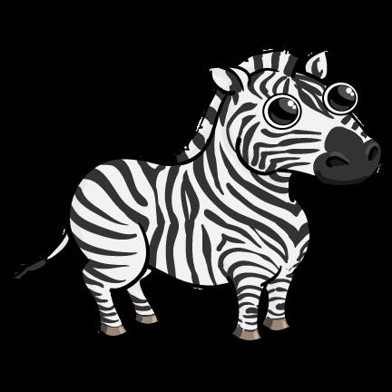 Clip art zebra clipart image