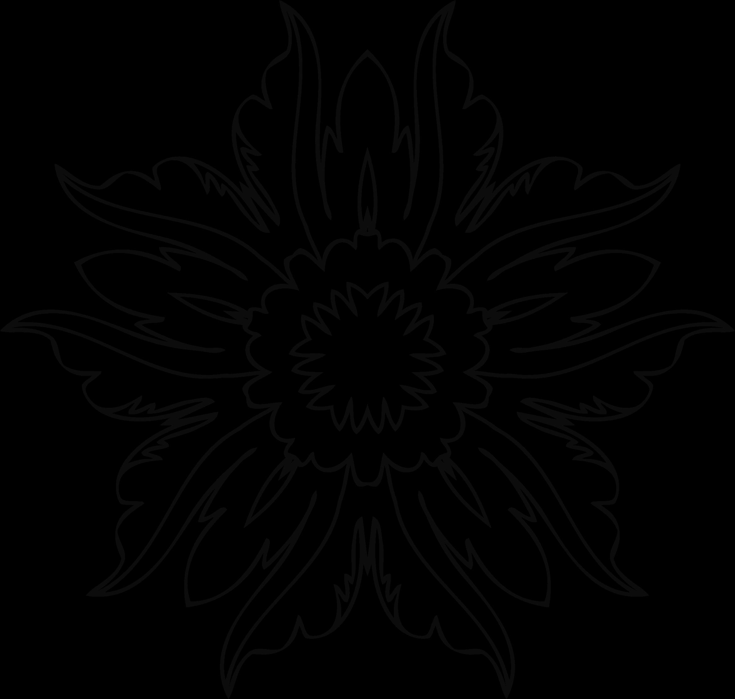 Clipart flower line art