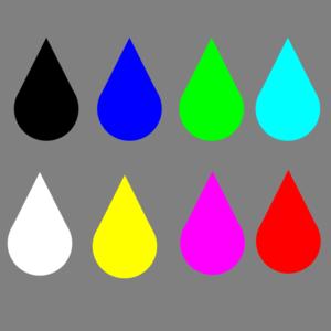 Colored raindrops clip art at vector clip art