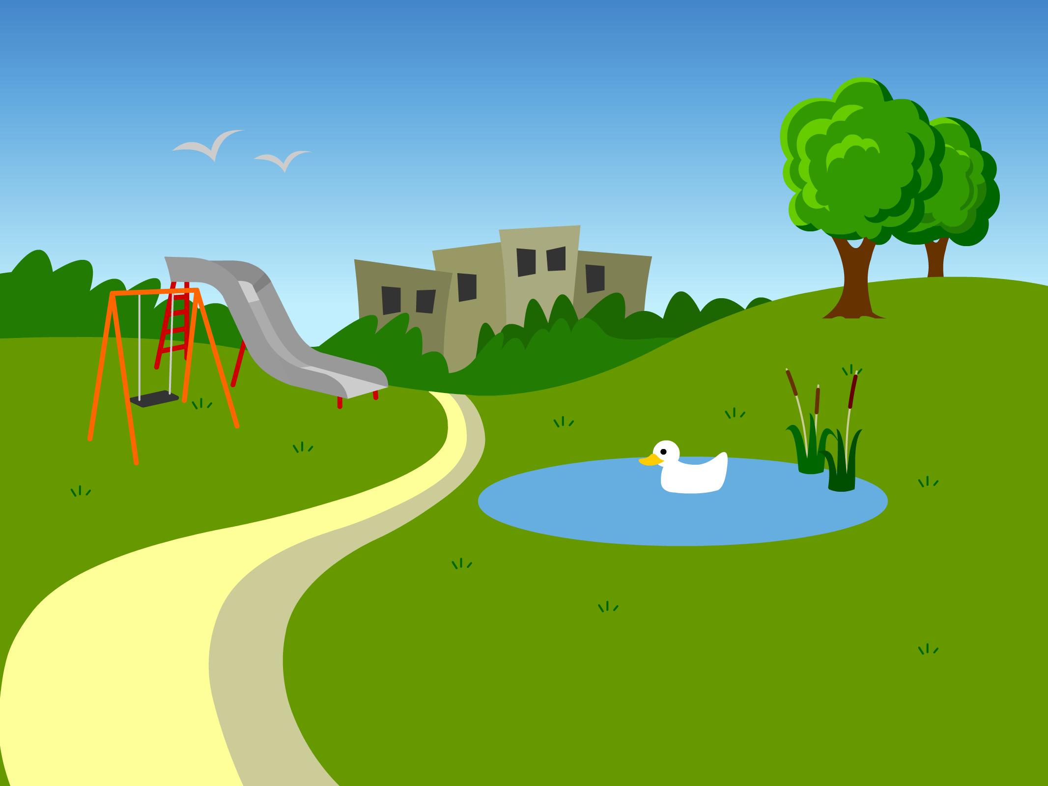 Community park clipart