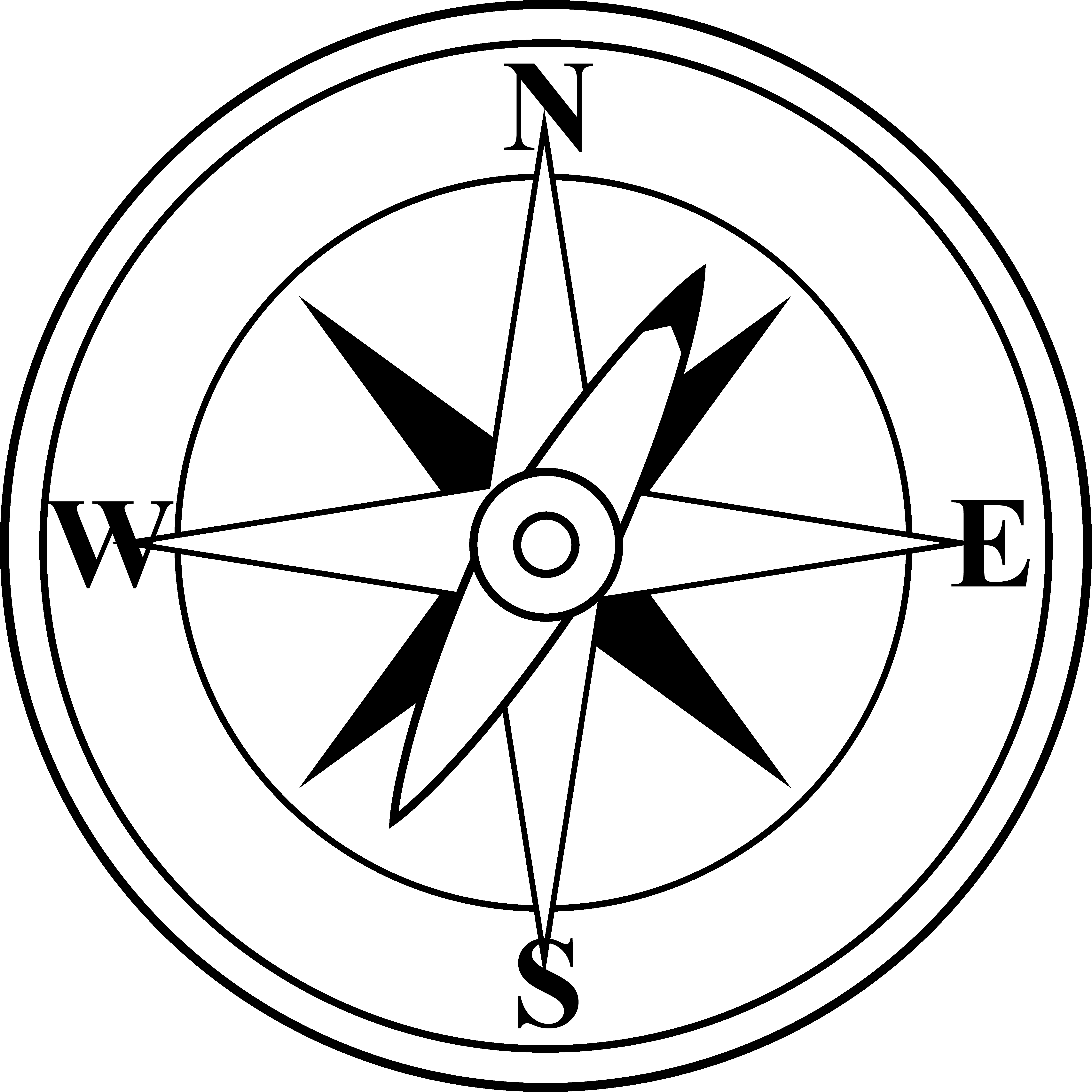 Compass black and whitepass free clip art