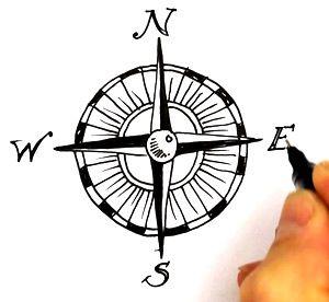 Compass treasure mappass clipart sea turtle tattoo