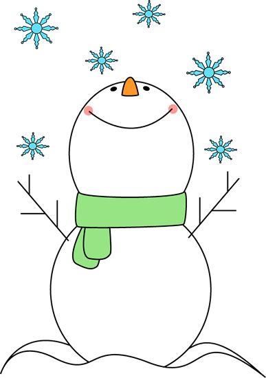 Cute snowflake clipart snowman catching snowflakes clip art