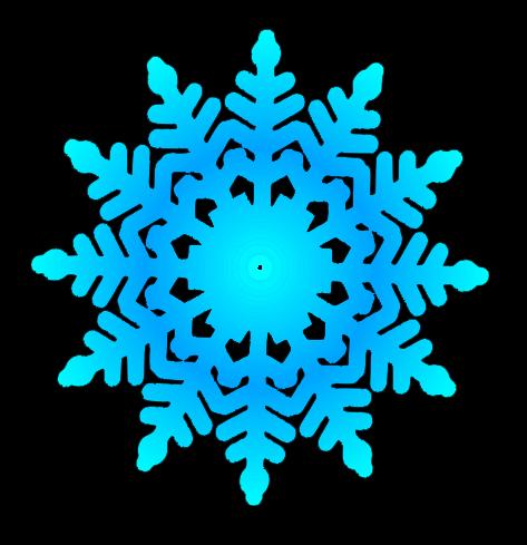Cute snowflake clipart