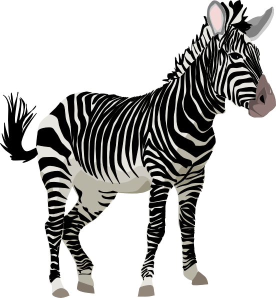 Cute zebra clipart free images 4