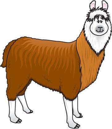 Dancing llama clipart