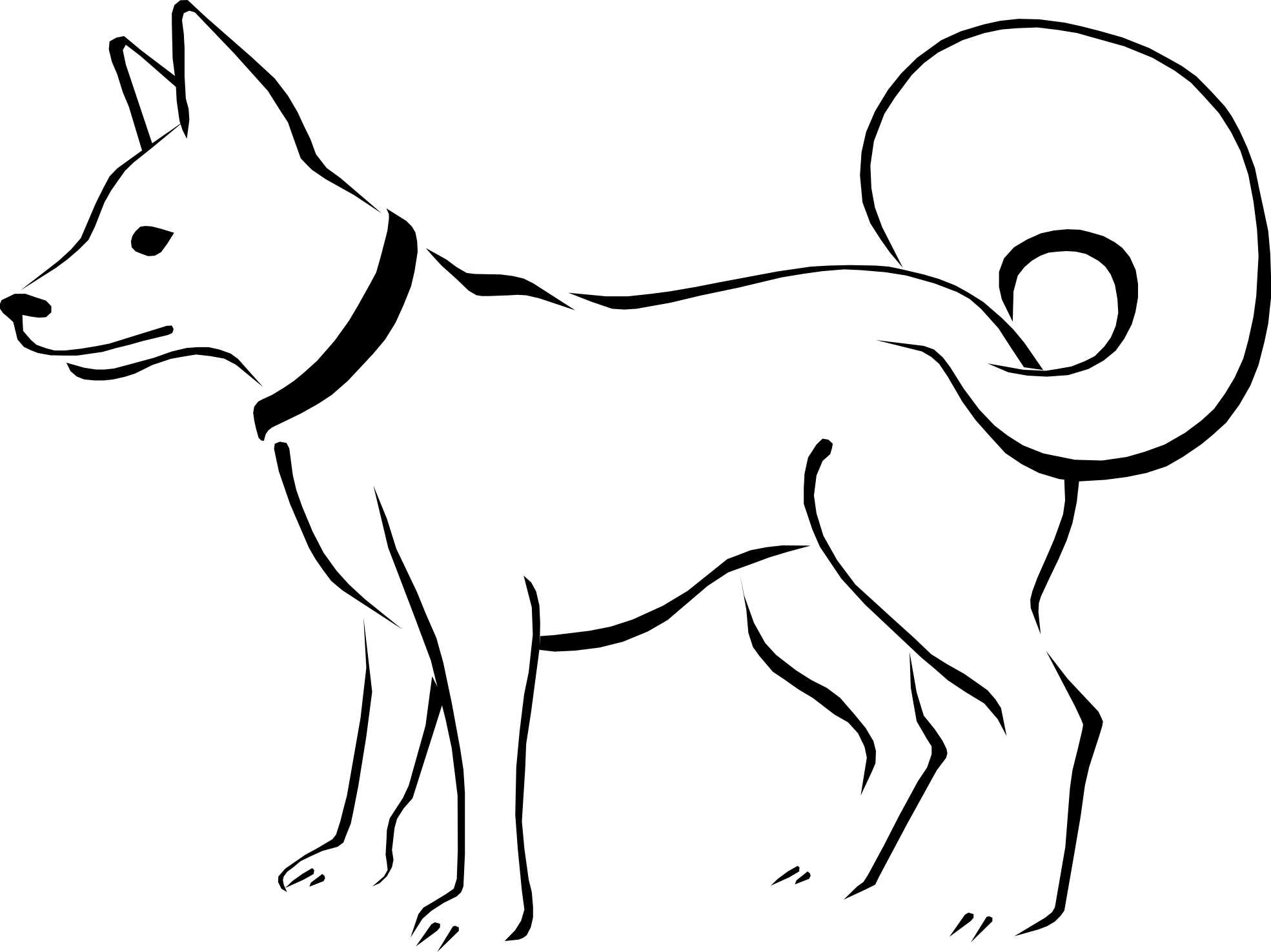 Dog bone clip art black and white free clipart