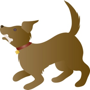 Dog bone clipart image a playful dog with a rawhide bone in its