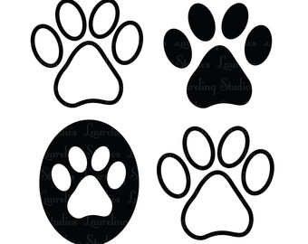 Dog paw dogs paws clipart image