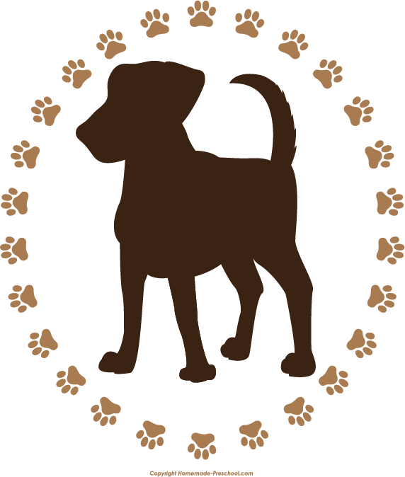 Dog paw free paw prints clipart