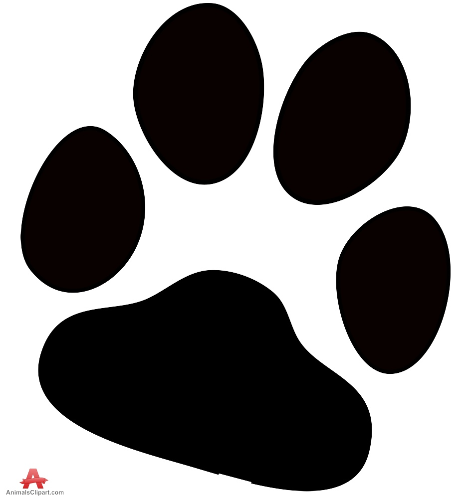 Dog paw print free clipart design download